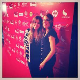 Con mi Compi Lorena Corcoles en el estreno de Marta tiene un Marcapasos