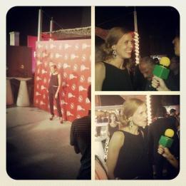 Entrevistando a Maria Castro en el evento Smoda